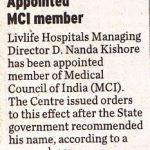 Dr. Nandakishore, Bariatric & Advanced Laproscopy surgeon Livlife Hospitals
